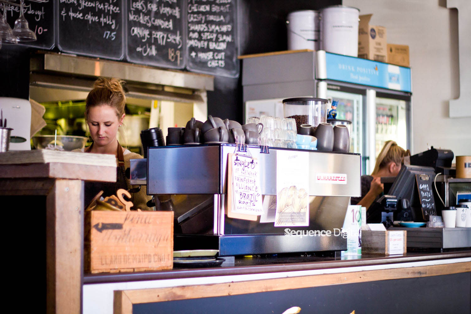 63 Degrees Cafe Geelong - Making Coffee