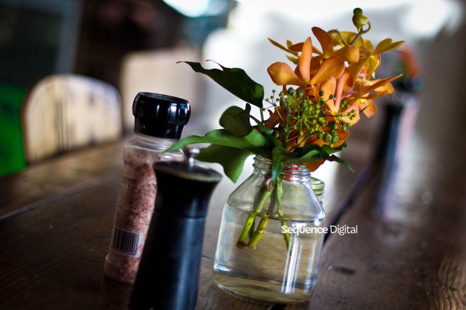 63 Degrees Cafe Geelong - Table Flowers