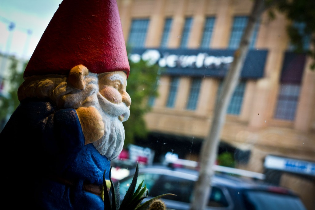 Awkward Cafe Geelong - Gnome Watching the Passing Traffic