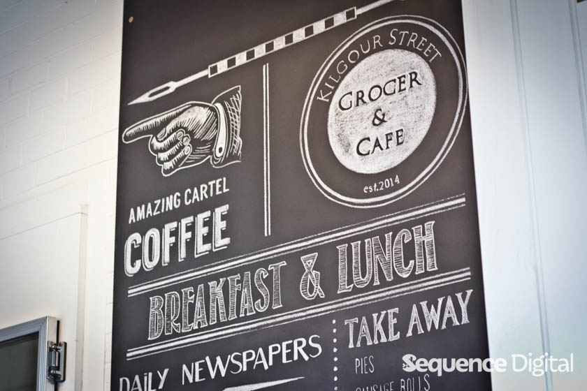 Kilgour Street Cafe and Grocer Geelong - Blackboard