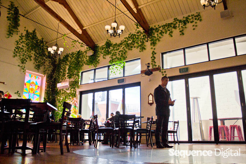From the front inside - Chapel on Little Ryrie Cafe Geelong