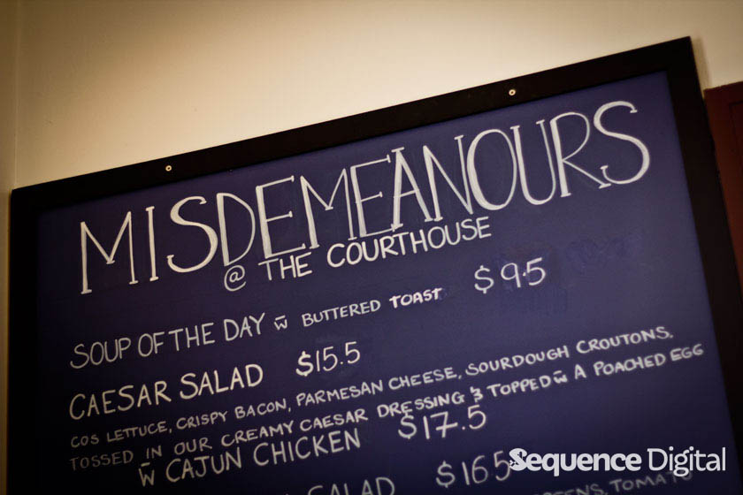 Misdemenours - Courthouse Cafe Geelong